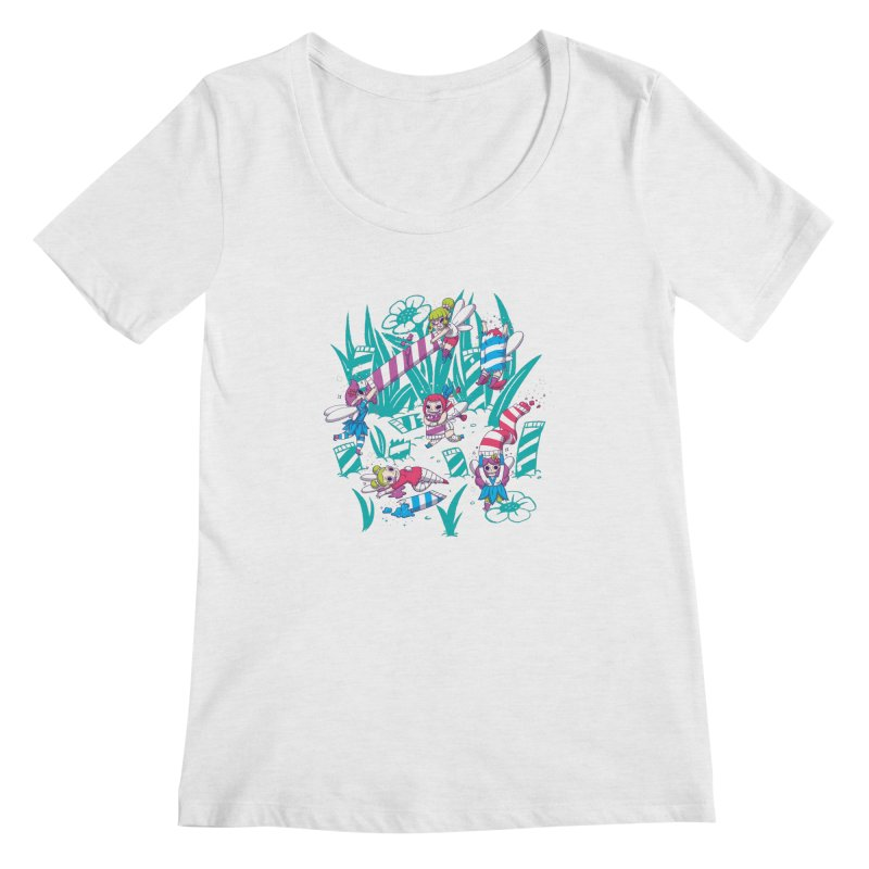 Pixies Eating Pixie Sticks Women's Regular Scoop Neck by Made With Awesome