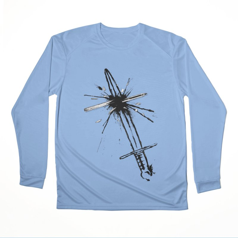 Which Is Mightier? Men's Performance Longsleeve T-Shirt by Made With Awesome
