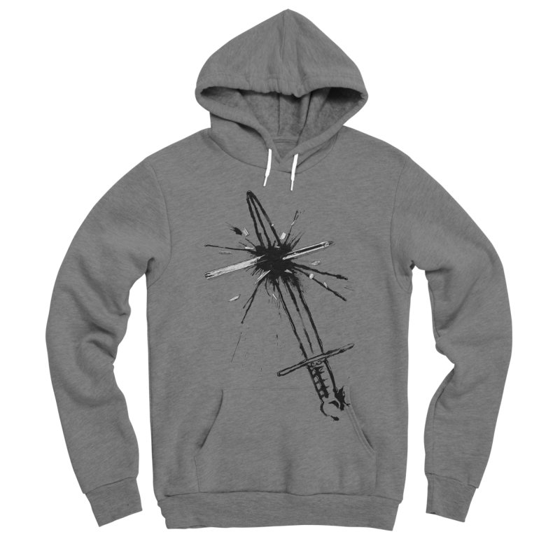 Which Is Mightier? Men's Sponge Fleece Pullover Hoody by Made With Awesome