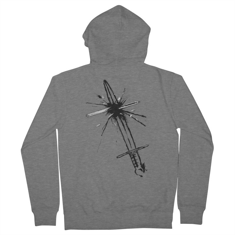 Which Is Mightier? Women's French Terry Zip-Up Hoody by Made With Awesome