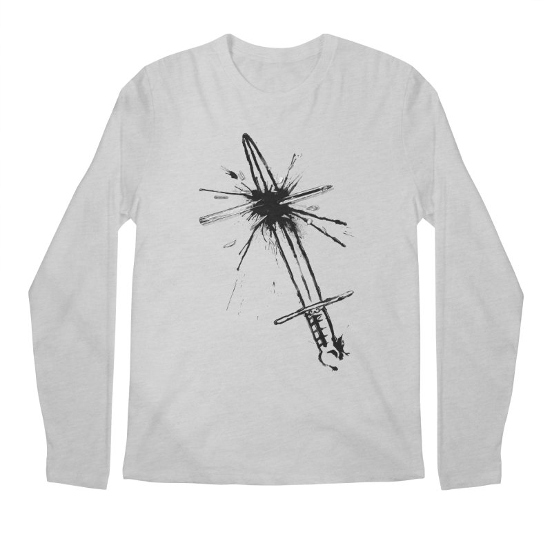 Which Is Mightier? Men's Regular Longsleeve T-Shirt by Made With Awesome