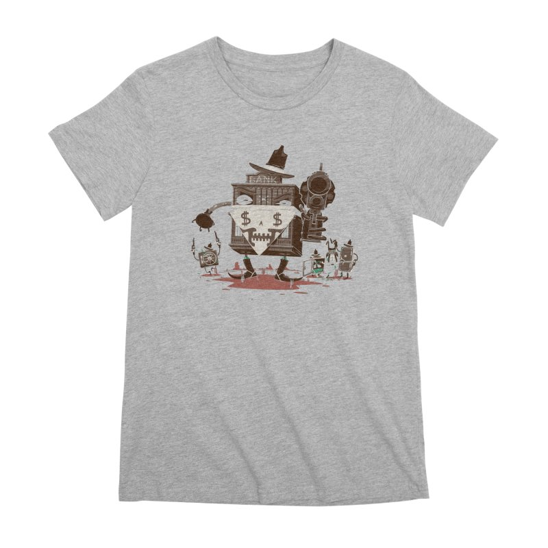 Bank Robber Women's Premium T-Shirt by Made With Awesome
