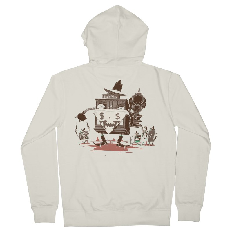 Bank Robber Men's French Terry Zip-Up Hoody by Made With Awesome