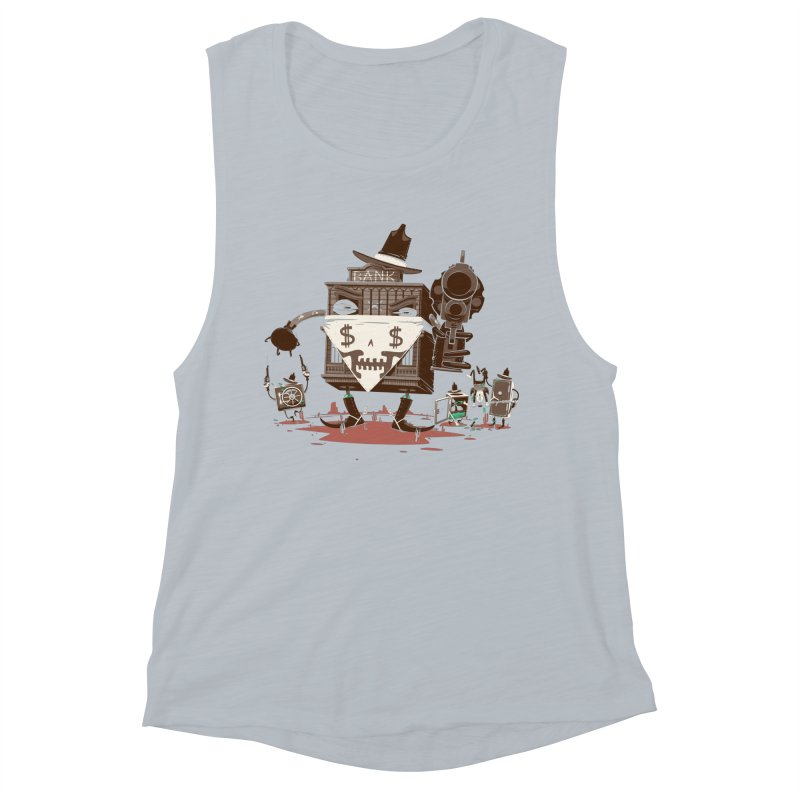 Bank Robber Women's Muscle Tank by Made With Awesome