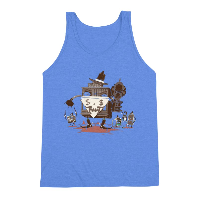 Bank Robber Men's Triblend Tank by Made With Awesome