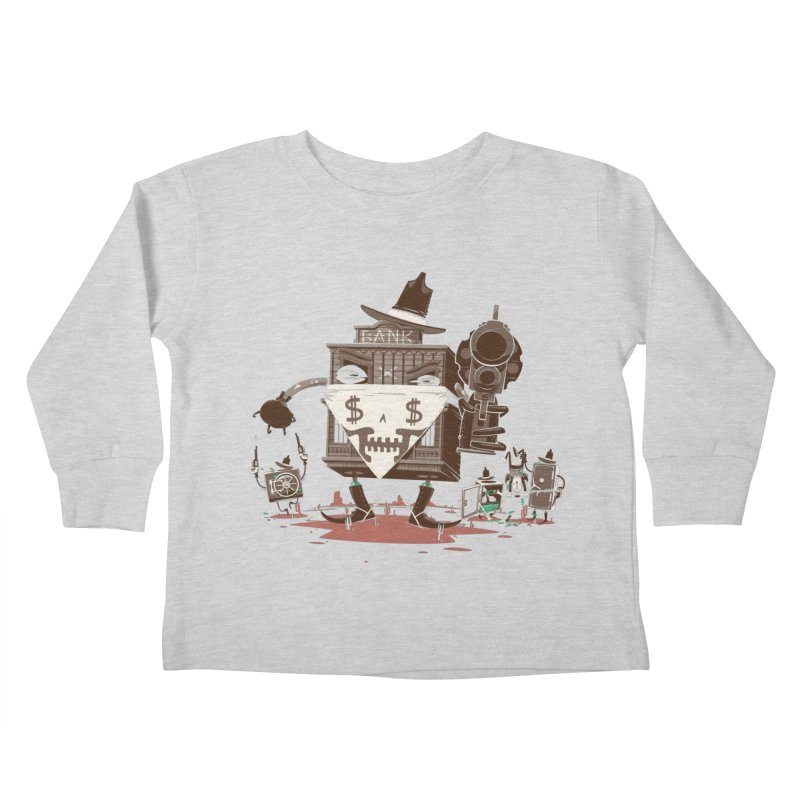Bank Robber Kids Toddler Longsleeve T-Shirt by Made With Awesome