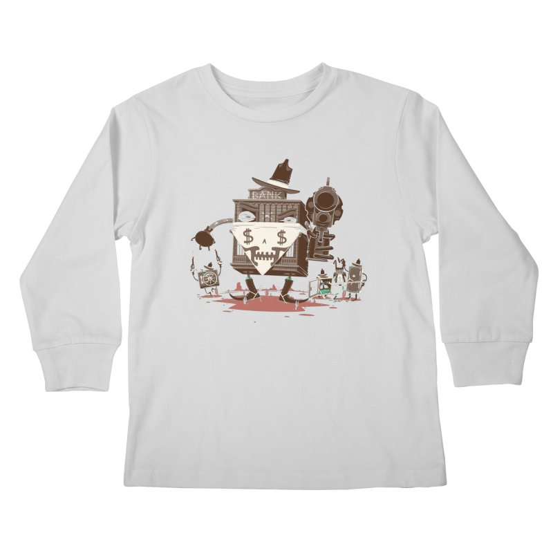 Bank Robber Kids Longsleeve T-Shirt by Made With Awesome