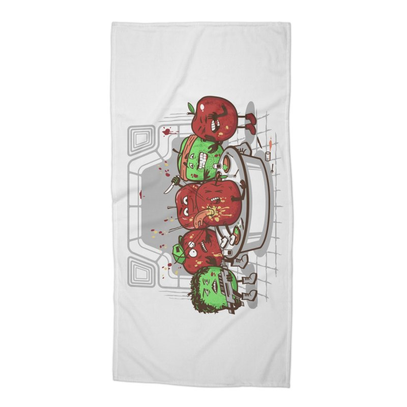 Alien Apple Accessories Beach Towel by Made With Awesome