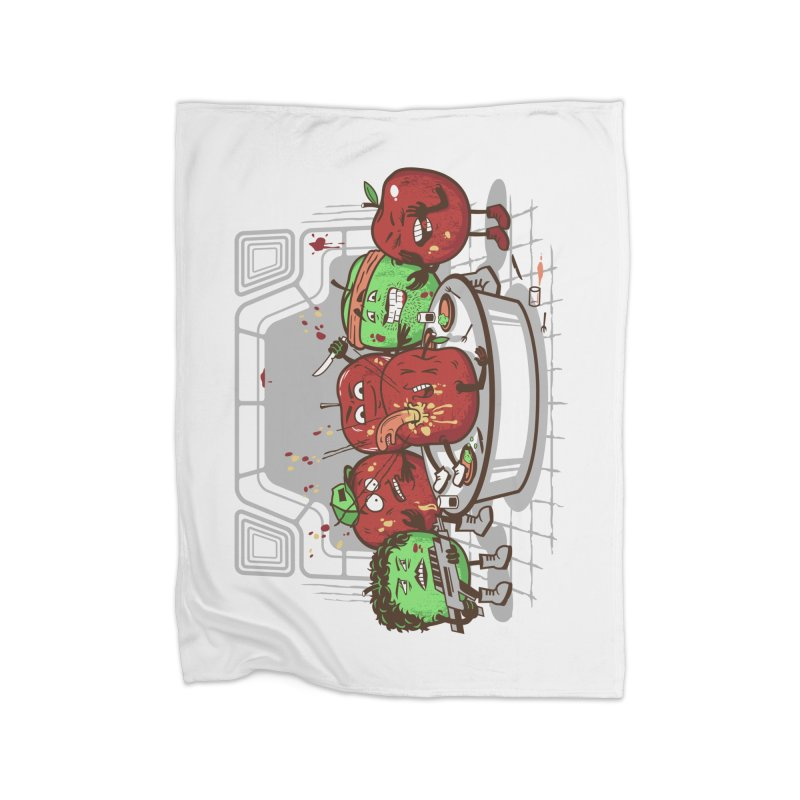 Alien Apple Home Fleece Blanket Blanket by Made With Awesome