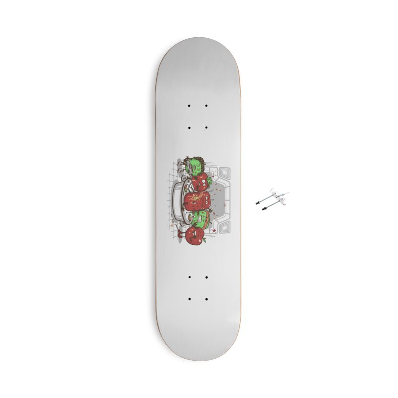 Alien Apple Accessories With Hanging Hardware Skateboard by Made With Awesome