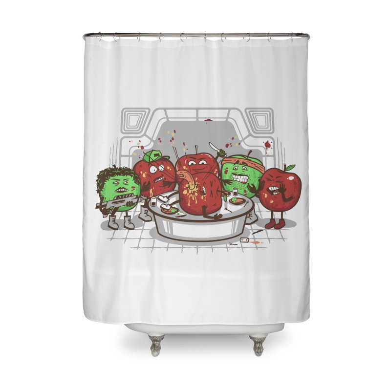 Alien Apple Home Shower Curtain by Made With Awesome