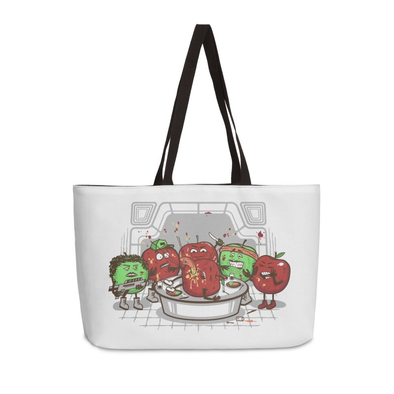 Alien Apple Accessories Weekender Bag Bag by Made With Awesome