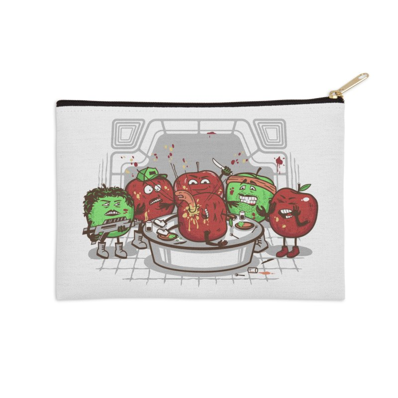 Alien Apple Accessories Zip Pouch by Made With Awesome