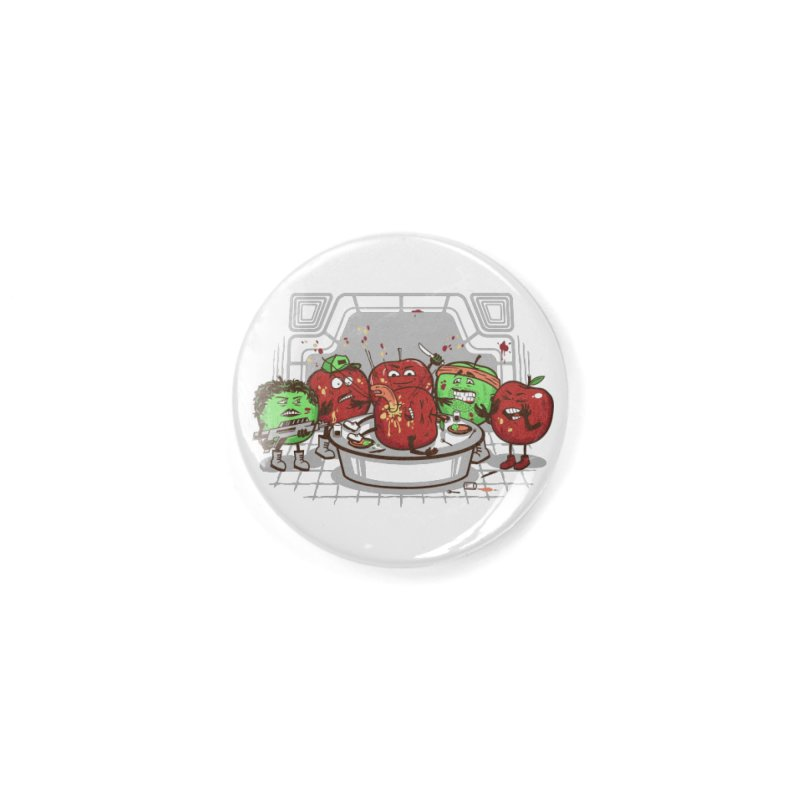 Alien Apple Accessories Button by Made With Awesome