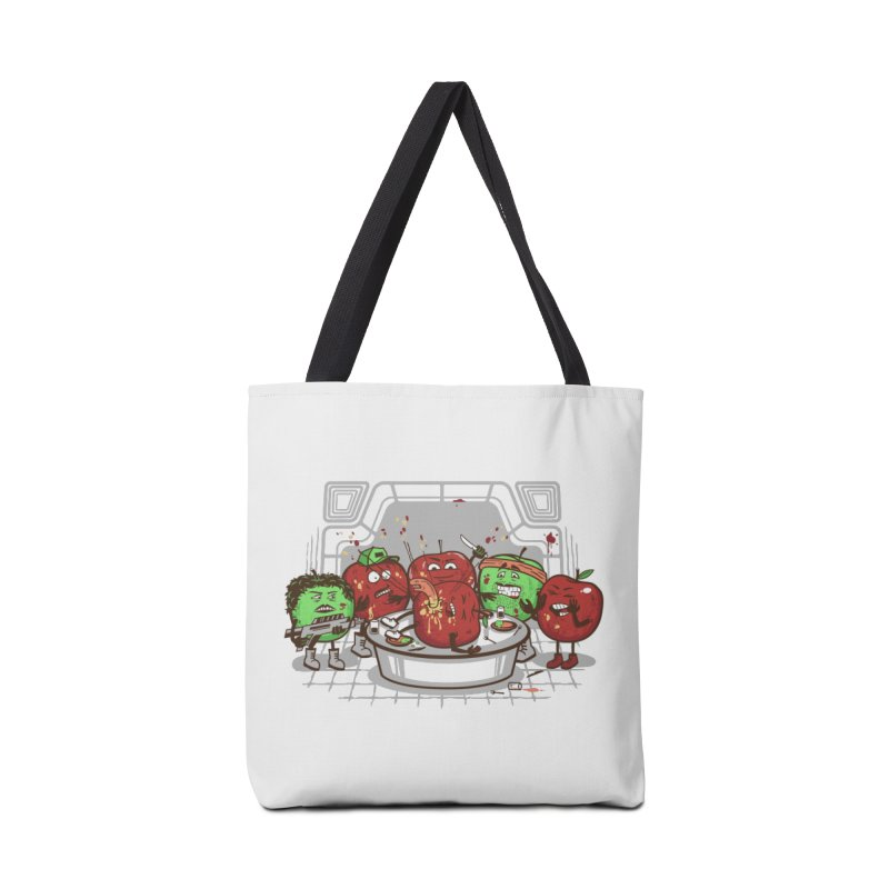 Alien Apple Accessories Tote Bag Bag by Made With Awesome