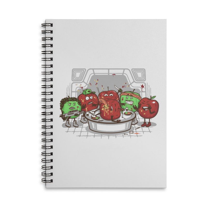 Alien Apple Accessories Lined Spiral Notebook by Made With Awesome