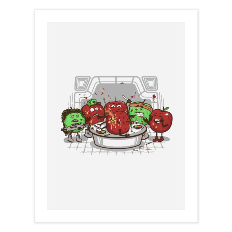 Alien Apple Home Fine Art Print by Made With Awesome