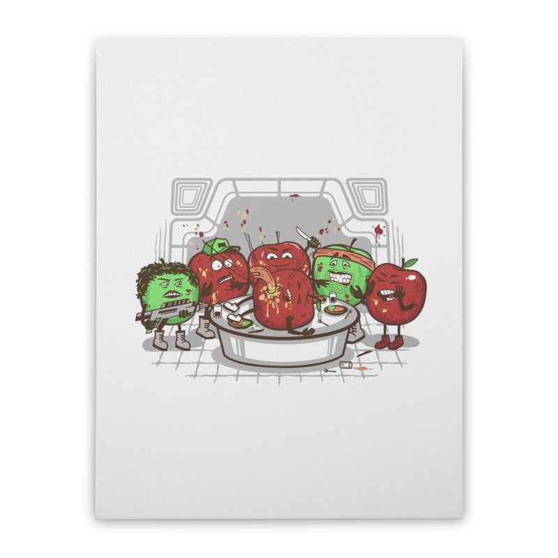 Alien Apple Home Stretched Canvas by Made With Awesome