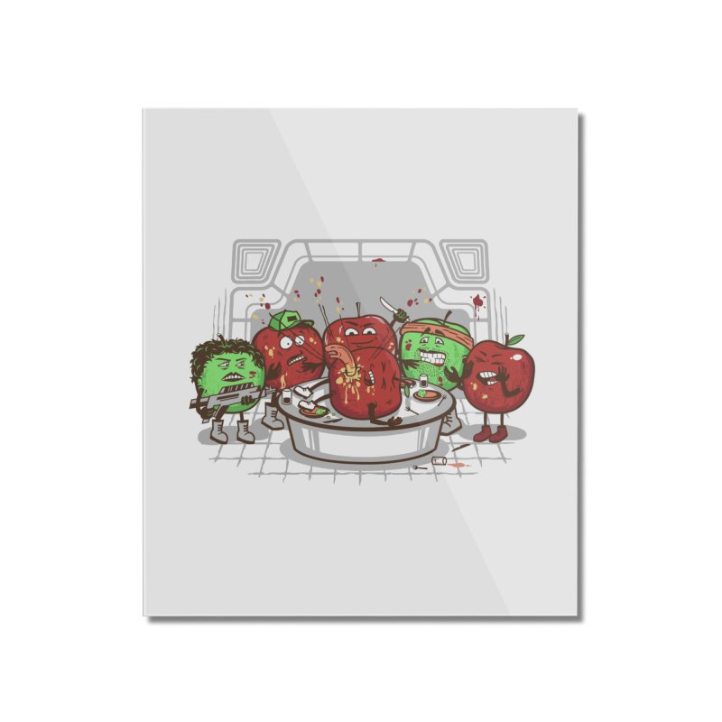 Alien Apple Home Mounted Acrylic Print by Made With Awesome