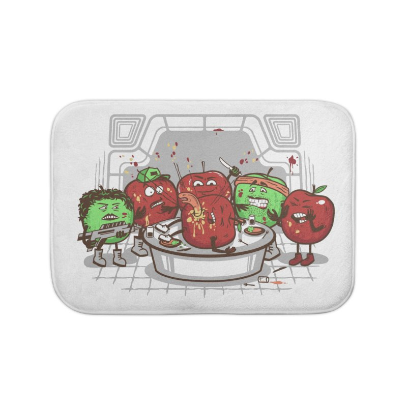 Alien Apple Home Bath Mat by Made With Awesome