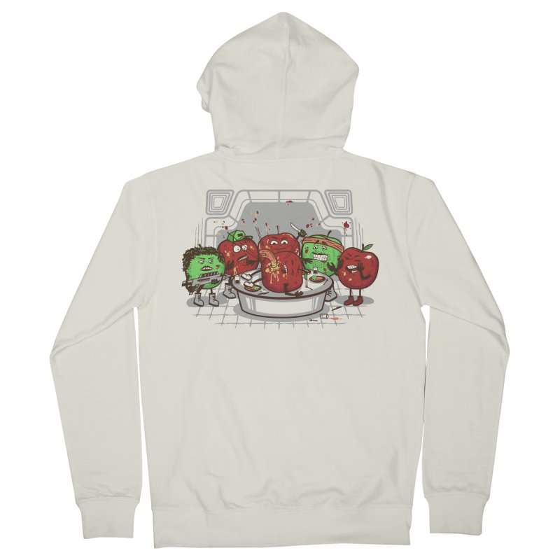 Alien Apple Men's French Terry Zip-Up Hoody by Made With Awesome