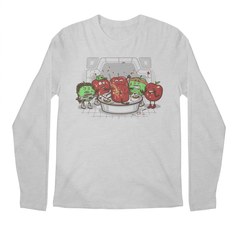 Alien Apple Men's Regular Longsleeve T-Shirt by Made With Awesome