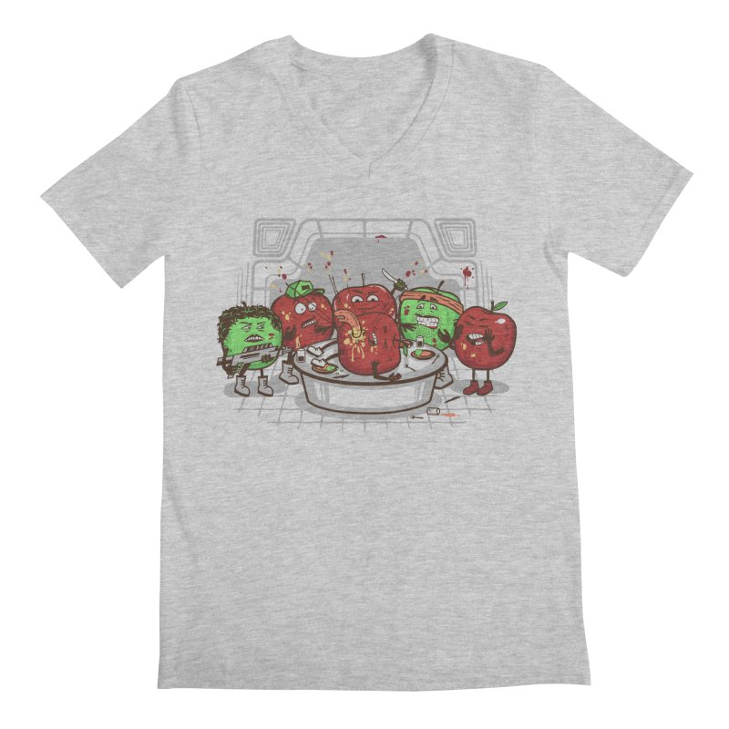 Alien Apple Men's Regular V-Neck by Made With Awesome