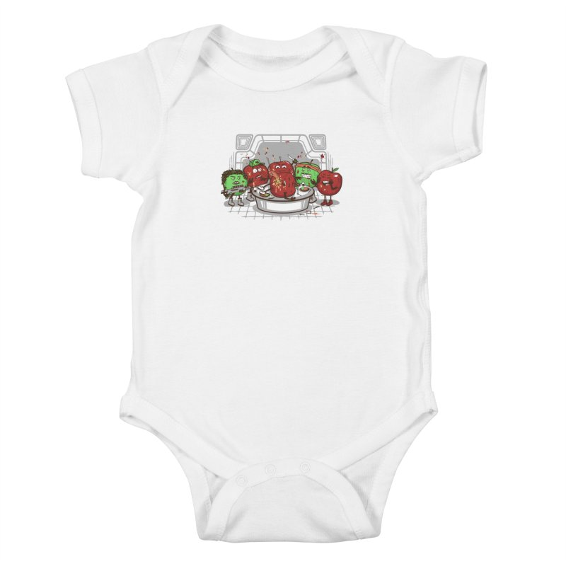 Alien Apple Kids Baby Bodysuit by Made With Awesome
