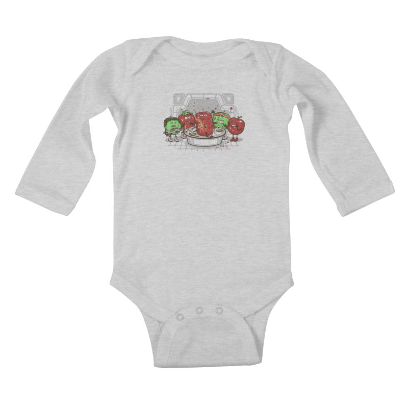 Alien Apple Kids Baby Longsleeve Bodysuit by Made With Awesome
