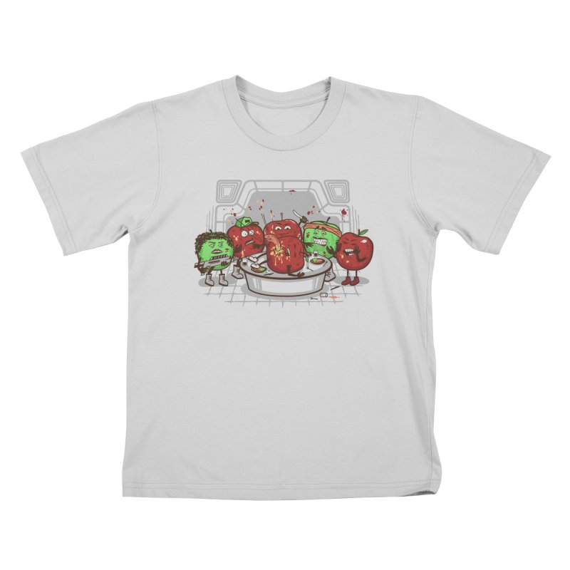 Alien Apple Kids T-Shirt by Made With Awesome