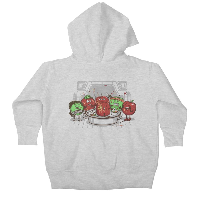 Alien Apple Kids Baby Zip-Up Hoody by Made With Awesome