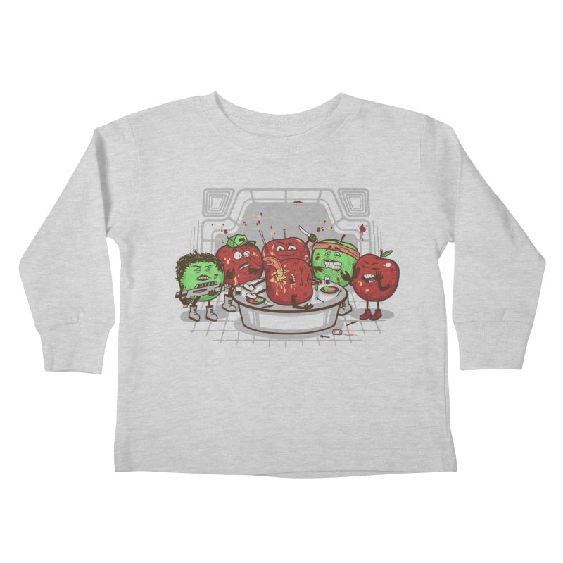 Alien Apple Kids Toddler Longsleeve T-Shirt by Made With Awesome