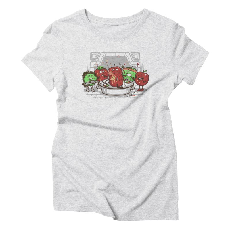 Alien Apple Women's Triblend T-Shirt by Made With Awesome