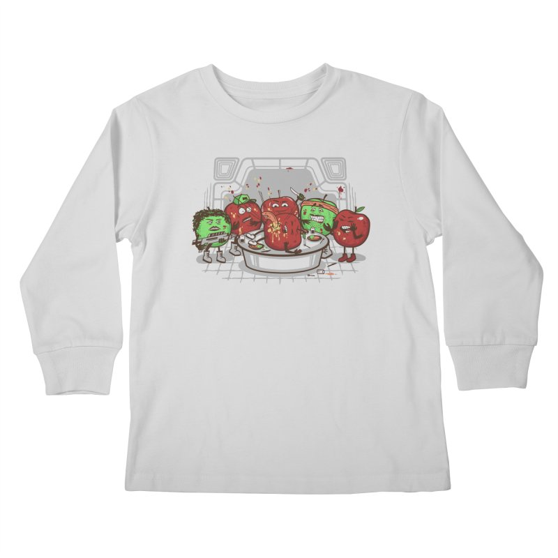 Alien Apple Kids Longsleeve T-Shirt by Made With Awesome