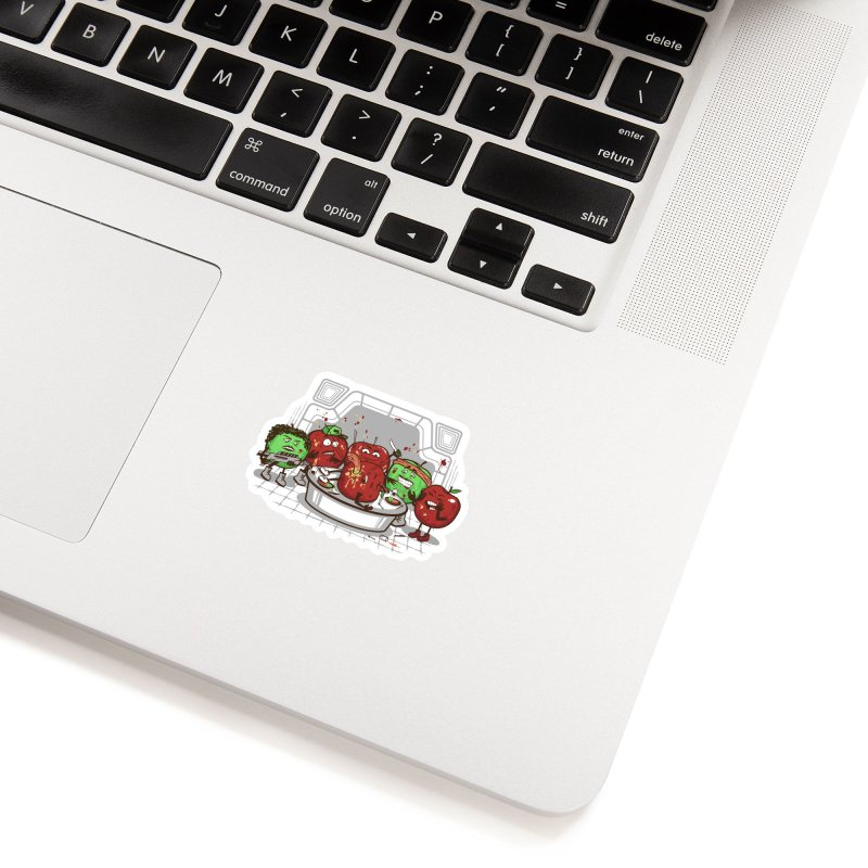 Alien Apple Accessories Sticker by Made With Awesome