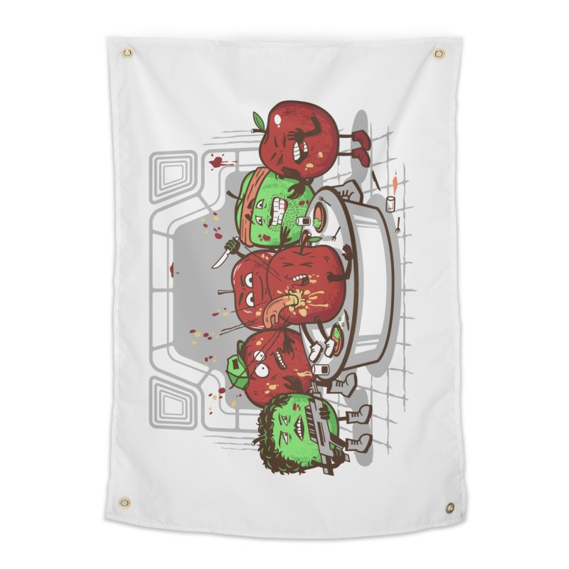 Alien Apple Home Tapestry by Made With Awesome