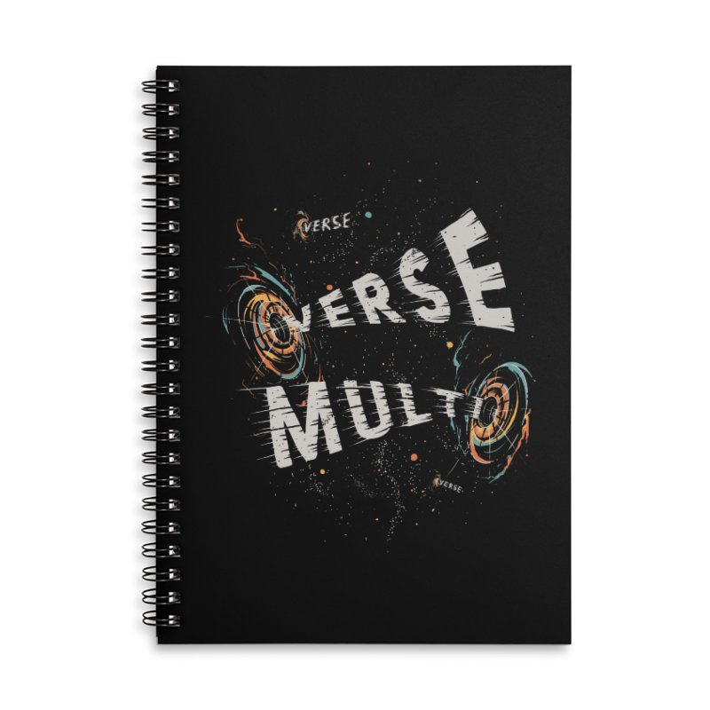 Multiverse Accessories Lined Spiral Notebook by Made With Awesome