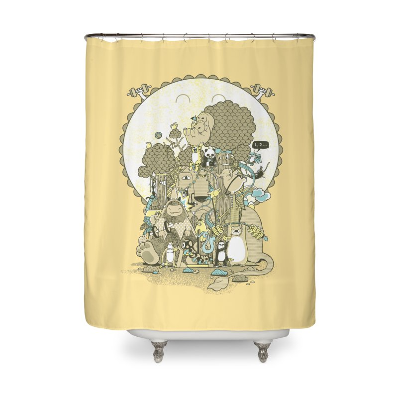 King of the Jungle Gym Home Shower Curtain by Made With Awesome