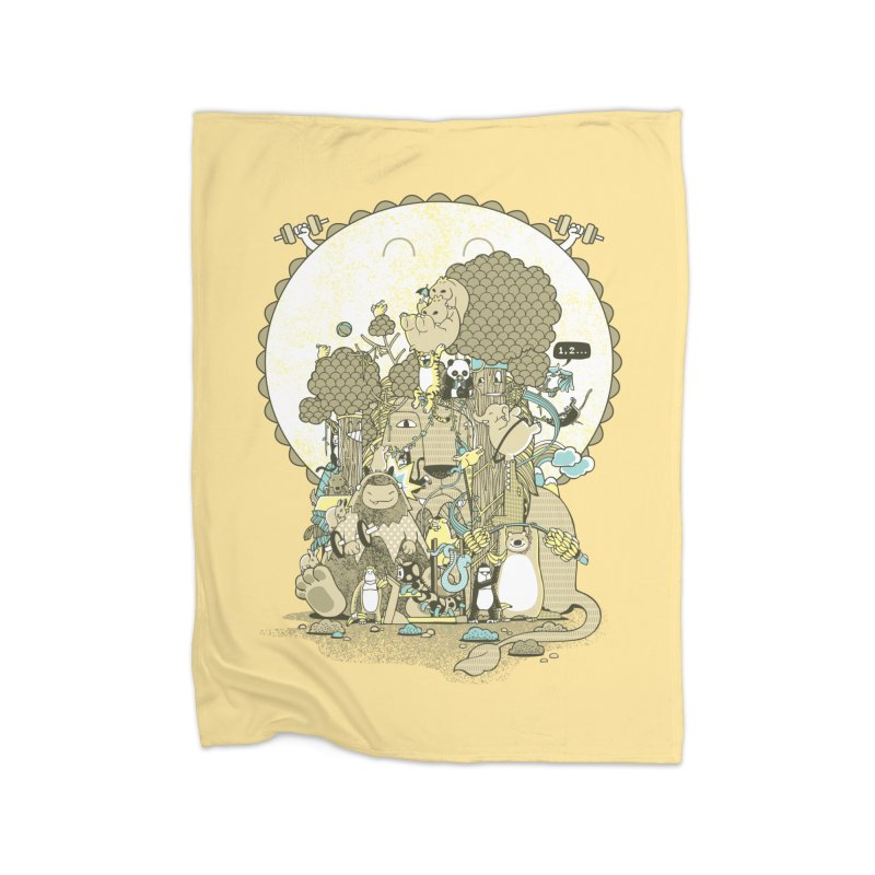 King of the Jungle Gym Home Fleece Blanket Blanket by Made With Awesome