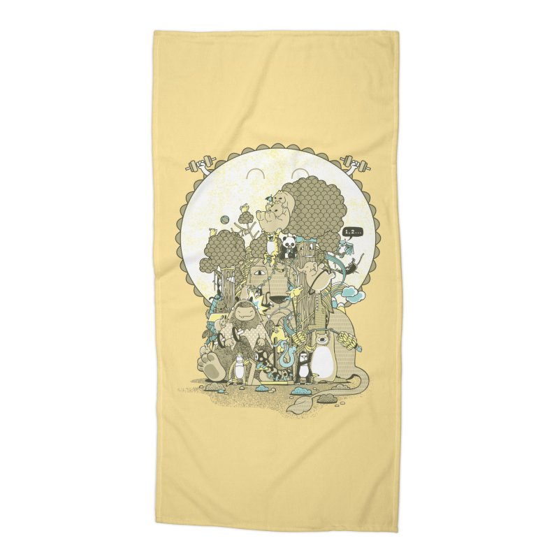 King of the Jungle Gym Accessories Beach Towel by Made With Awesome