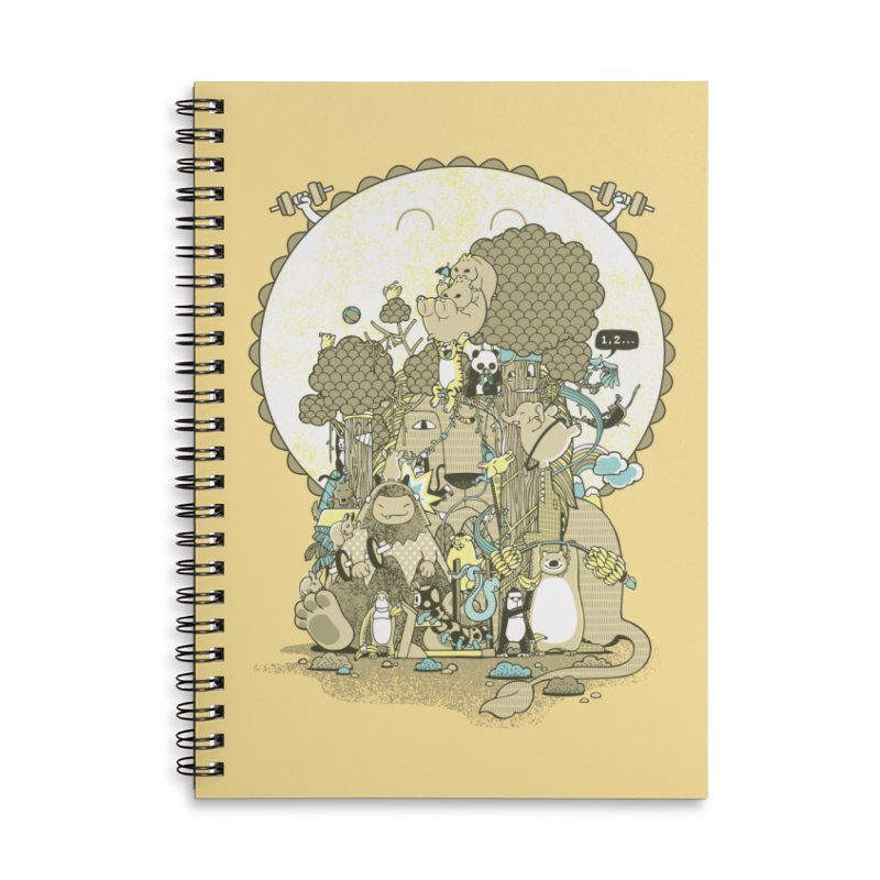 King of the Jungle Gym Accessories Lined Spiral Notebook by Made With Awesome