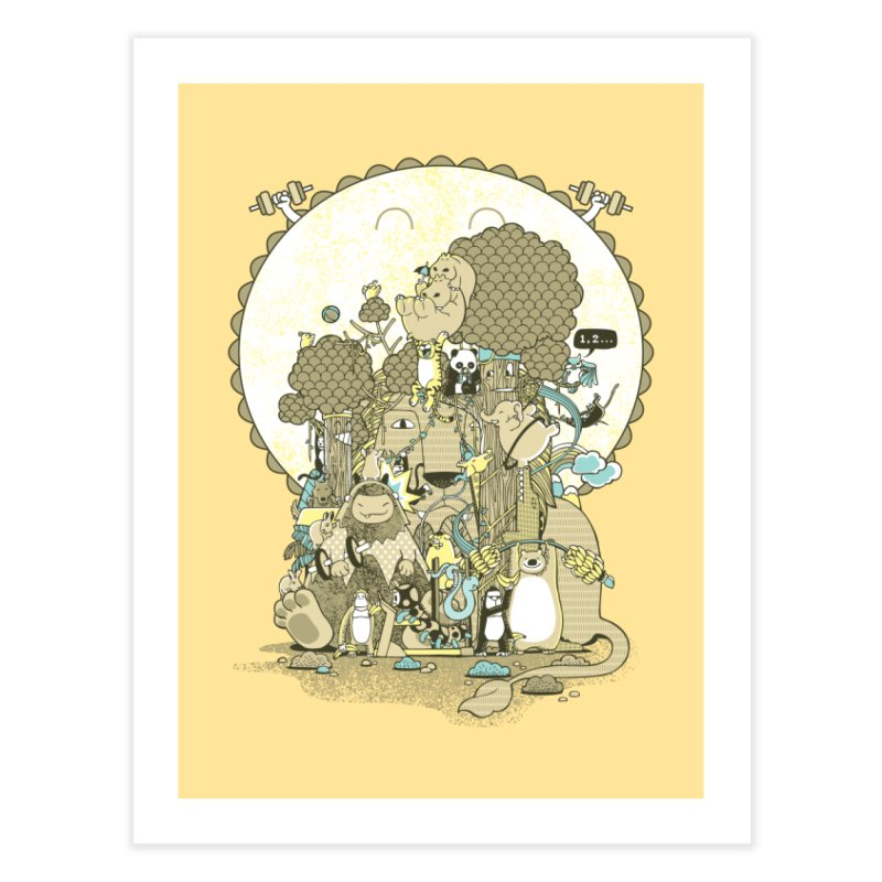 King of the Jungle Gym Home Fine Art Print by Made With Awesome