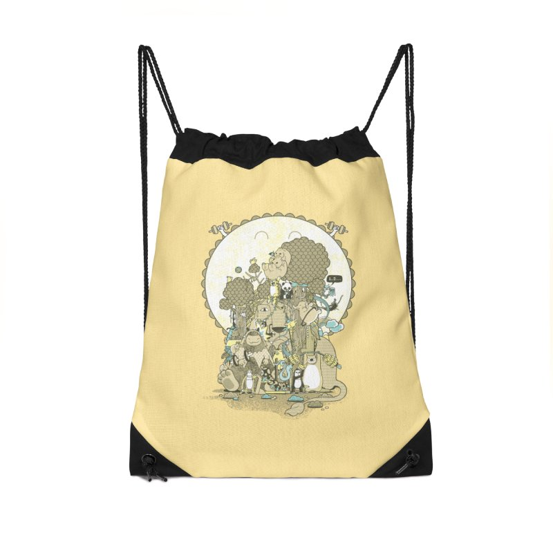 King of the Jungle Gym Accessories Drawstring Bag Bag by Made With Awesome