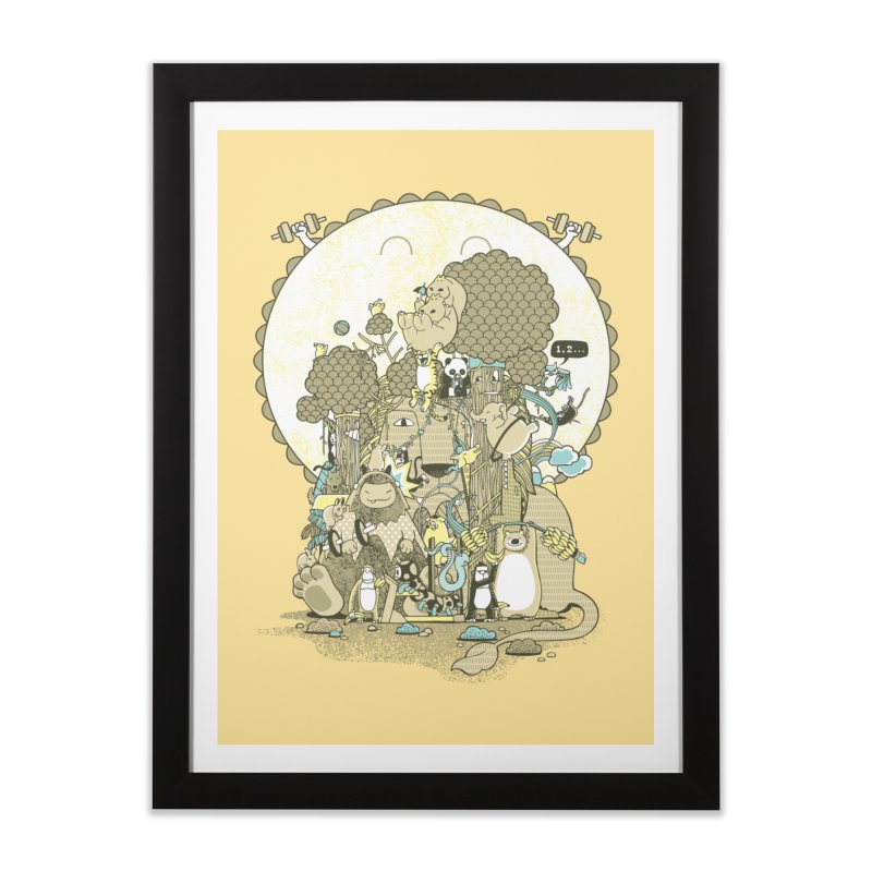 King of the Jungle Gym Home Framed Fine Art Print by Made With Awesome