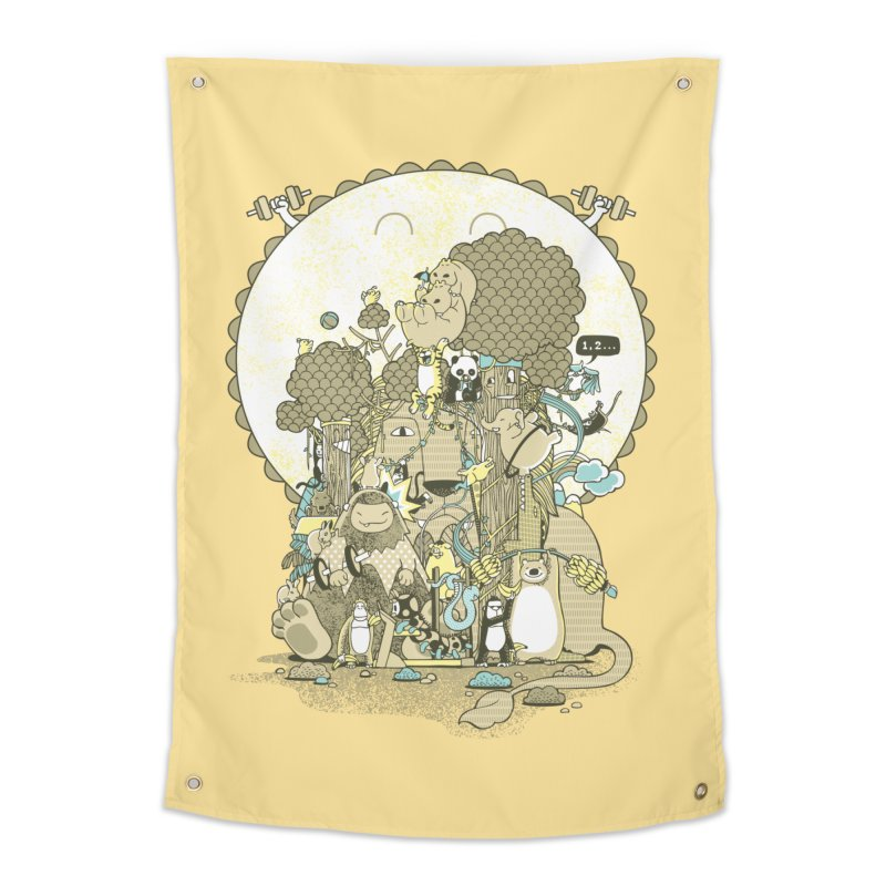 King of the Jungle Gym Home Tapestry by Made With Awesome