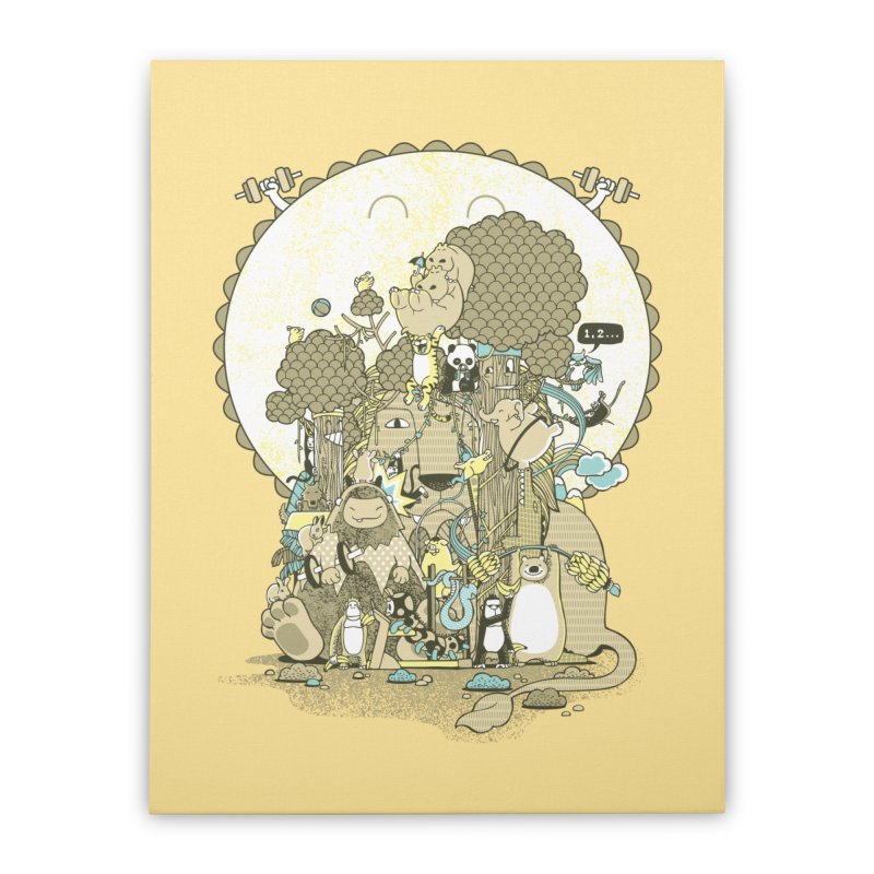 King of the Jungle Gym Home Stretched Canvas by Made With Awesome
