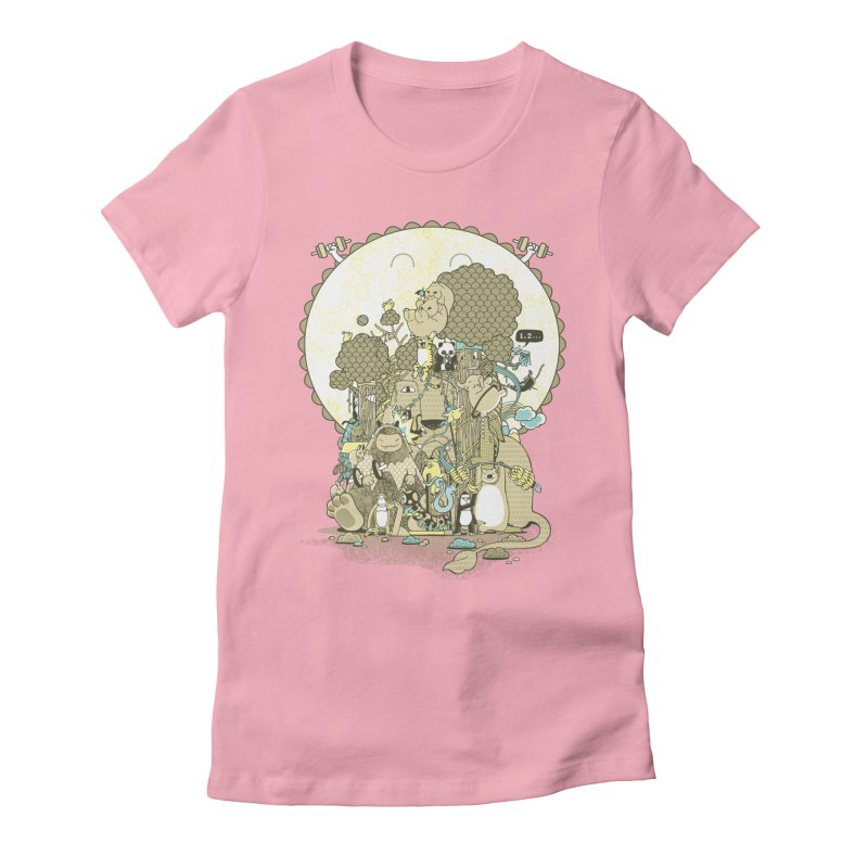 King of the Jungle Gym Women's Fitted T-Shirt by Made With Awesome