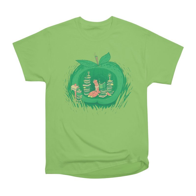 Bookworm's Haven Men's Heavyweight T-Shirt by Made With Awesome
