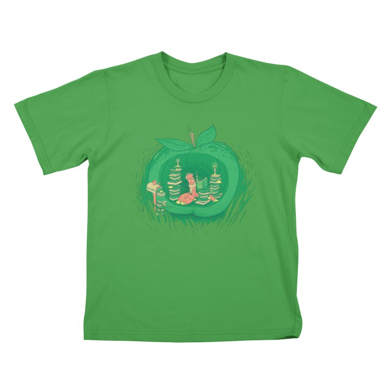 Bookworm's Haven Kids T-Shirt by Made With Awesome