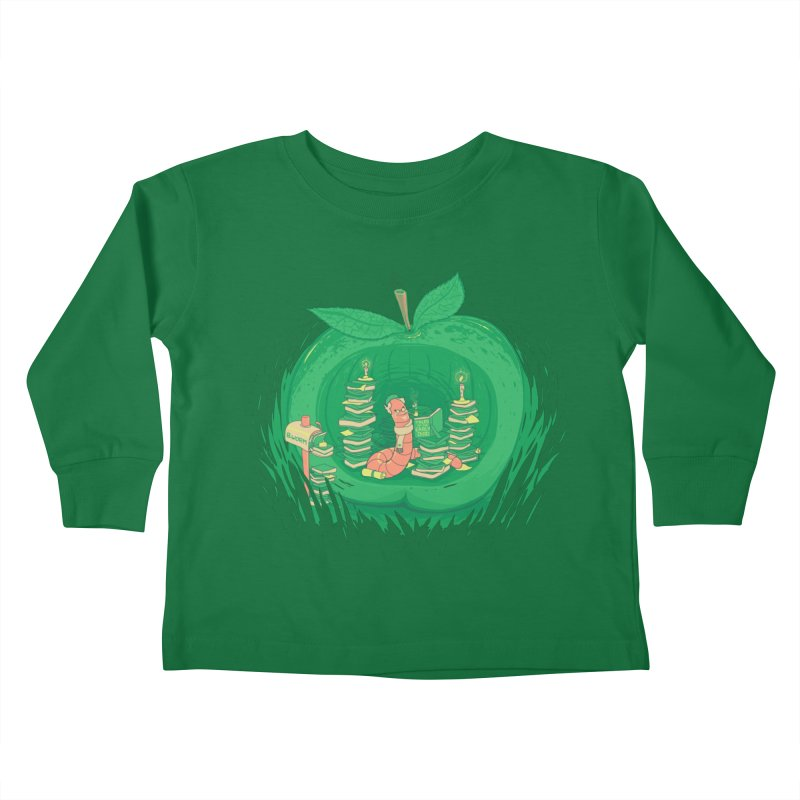 Bookworm's Haven Kids Toddler Longsleeve T-Shirt by Made With Awesome